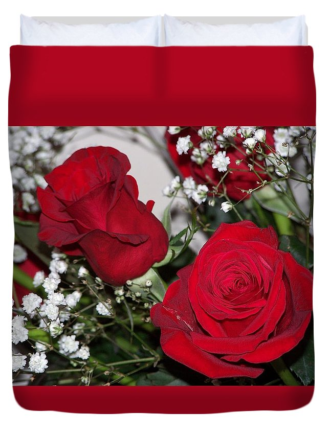 Rose Duvet Cover featuring the photograph Roses by Susan Turner Soulis