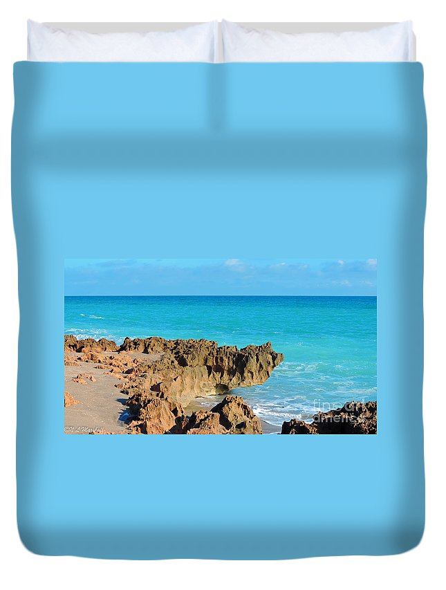 Rocks Duvet Cover featuring the photograph Ross Witham Beach 1 by Nancy L Marshall