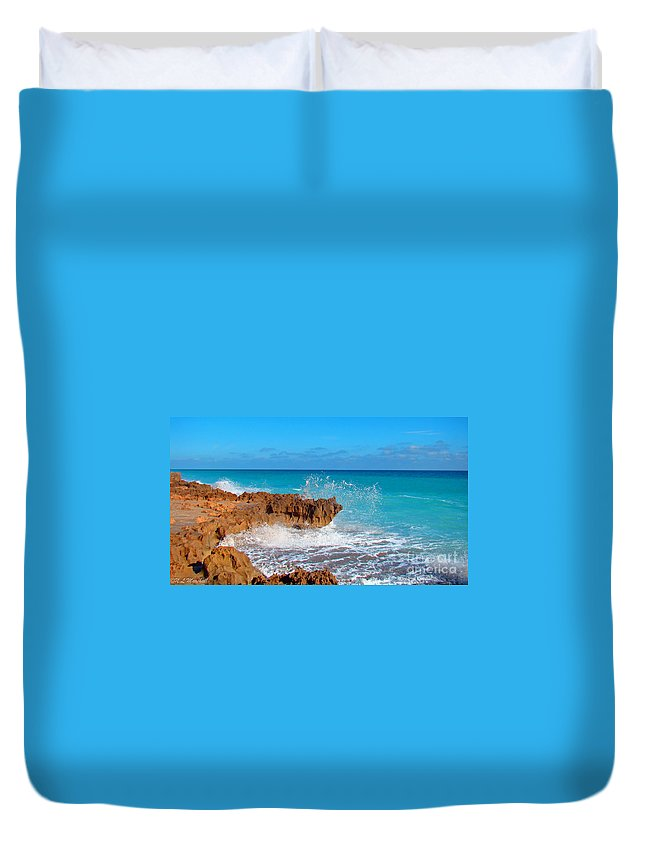 Rocks Duvet Cover featuring the photograph Ross Witham Beach 6 by Nancy L Marshall