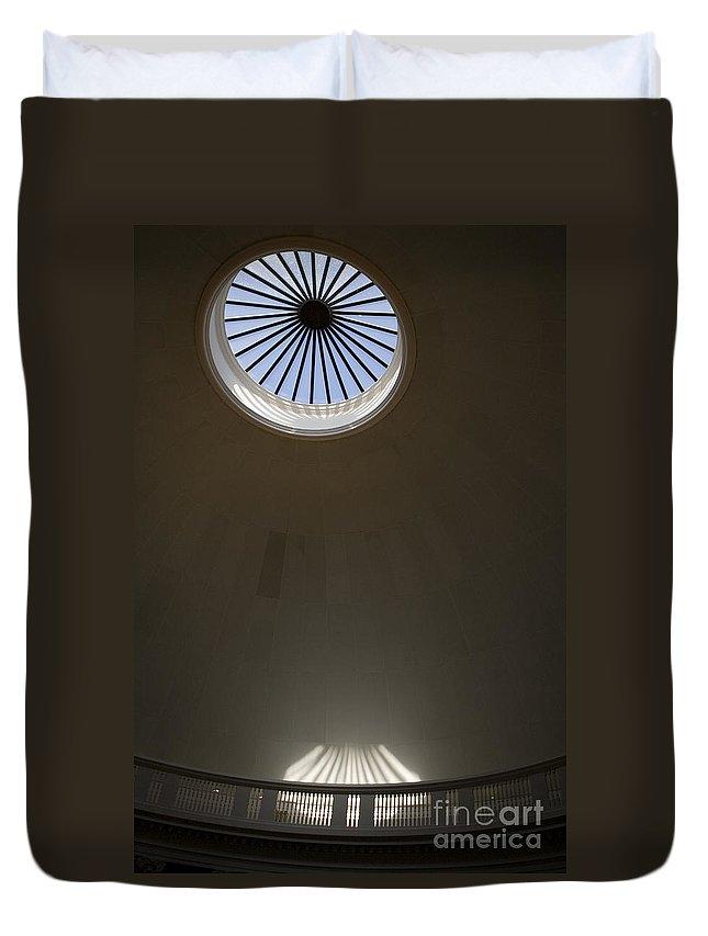 Rotunda Duvet Cover featuring the photograph Rotunda Dome Rome University Of Virginia by Jason O Watson