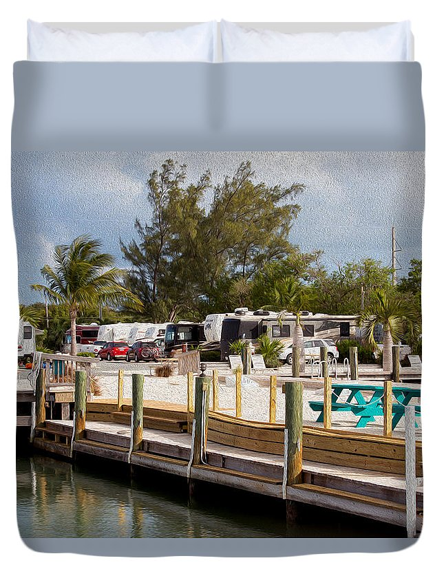 Landscape Duvet Cover featuring the photograph Roughing It In The Keys by John M Bailey