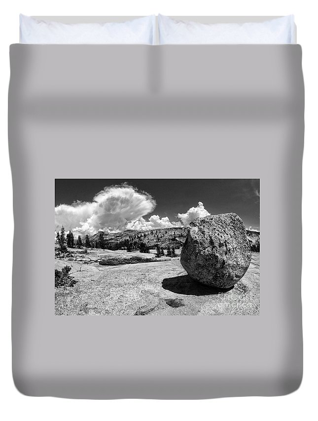 Yosemite Duvet Cover featuring the photograph Round Rock Yosemite by Blake Richards