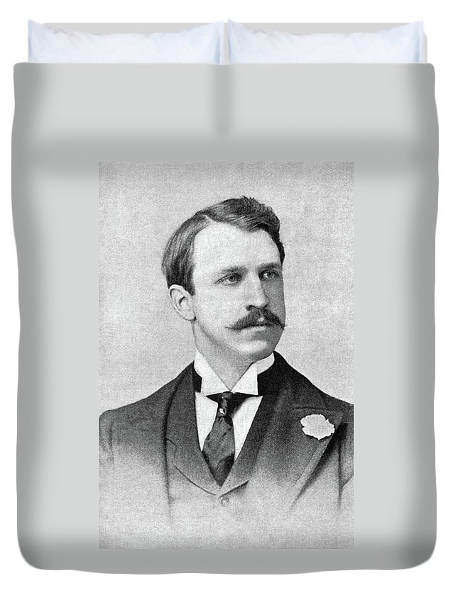 1898 Duvet Cover featuring the photograph Rounsevelle Wildman (1864-1901) by Granger