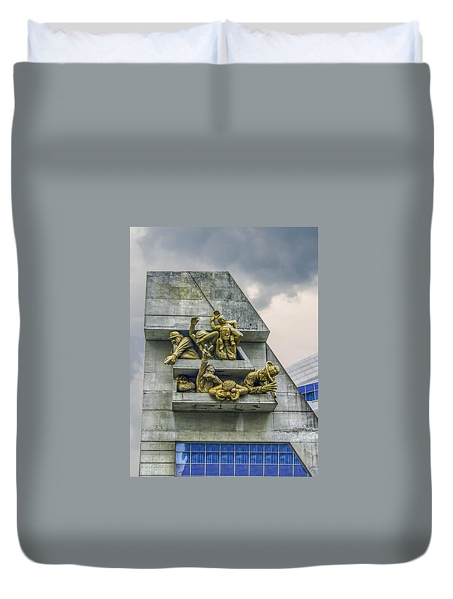Guy Whiteley Photography Duvet Cover featuring the photograph Rowdy Jays Fans by Guy Whiteley