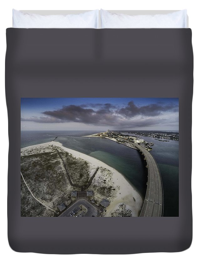 Palm Duvet Cover featuring the digital art Royal Palm Morning View by Michael Thomas