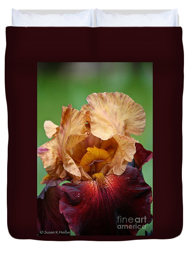 Flower Duvet Cover featuring the photograph Royal Red Carpet by Susan Herber