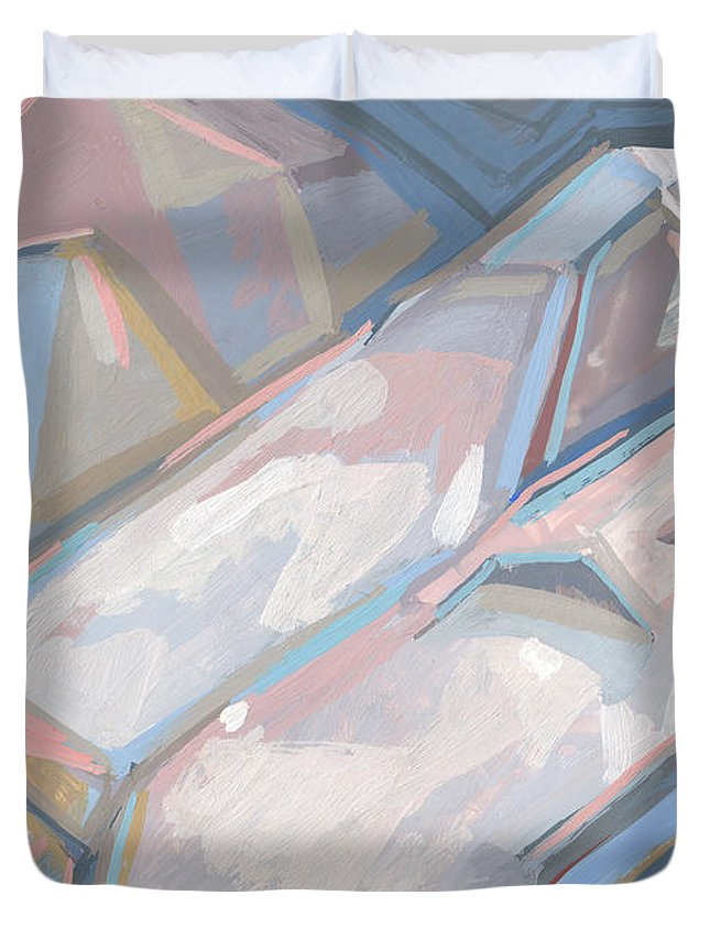 Sarcophagi Duvet Cover featuring the digital art Royal Sarcophagi by Richard Glen Smith