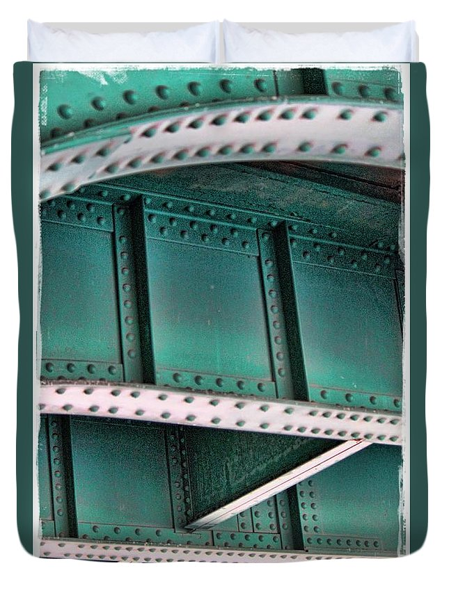 Rivets Duvet Cover featuring the photograph Rrrivets by Sylvia Thornton