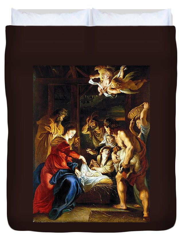 1608 Duvet Cover featuring the photograph Rubens Adoration by Granger