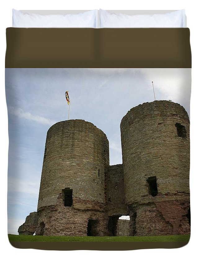 Castles Duvet Cover featuring the photograph Ruddlan Castle by Christopher Rowlands