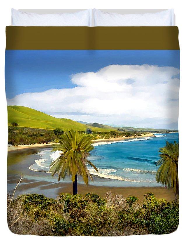 Ocean Duvet Cover featuring the photograph Rufugio by Kurt Van Wagner