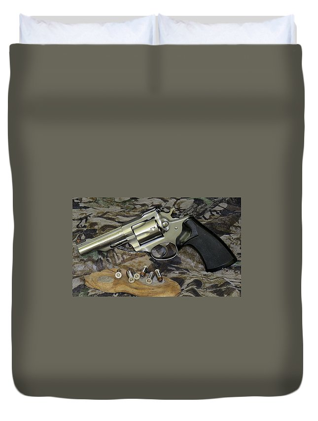 Ruger Duvet Cover featuring the photograph Ruger Security Six Still Life by Kent Dunning