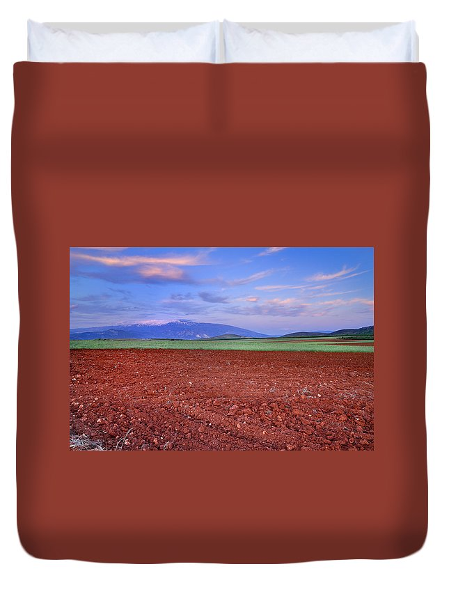 Duvet Cover featuring the photograph Rural Sunset by Guido Montanes Castillo