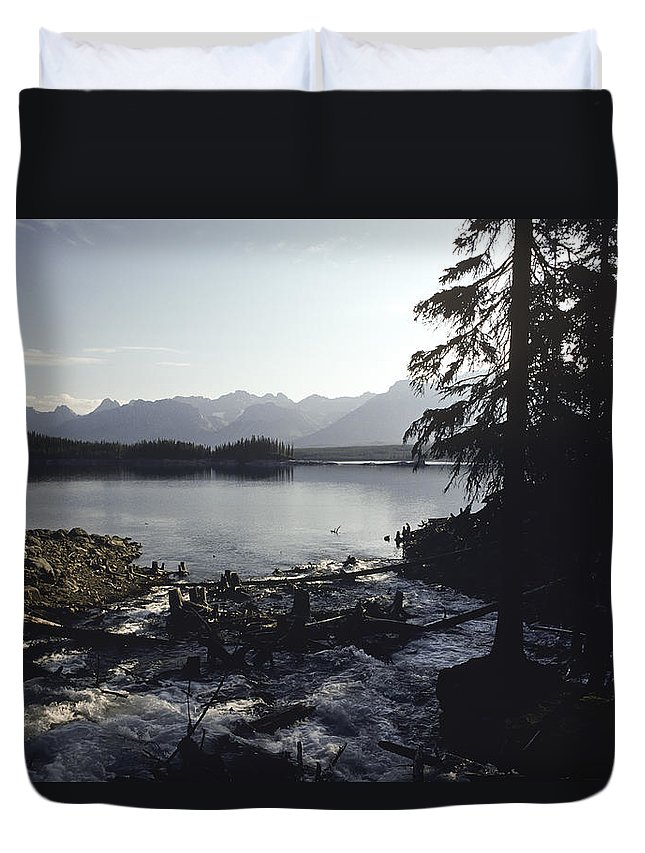Americas Duvet Cover featuring the photograph Rushing Stream by Roderick Bley