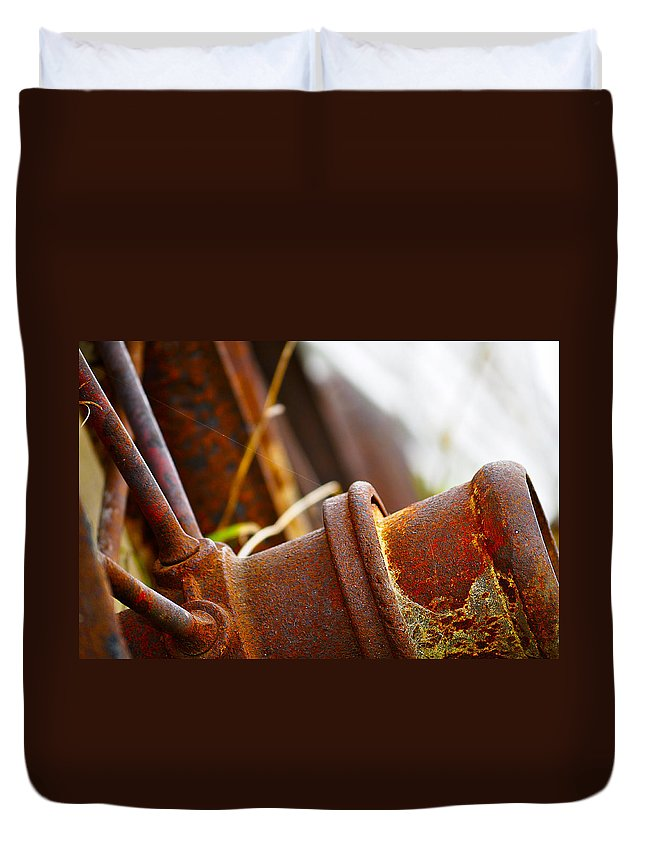 Blumwurks Duvet Cover featuring the photograph Rust by Matthew Blum