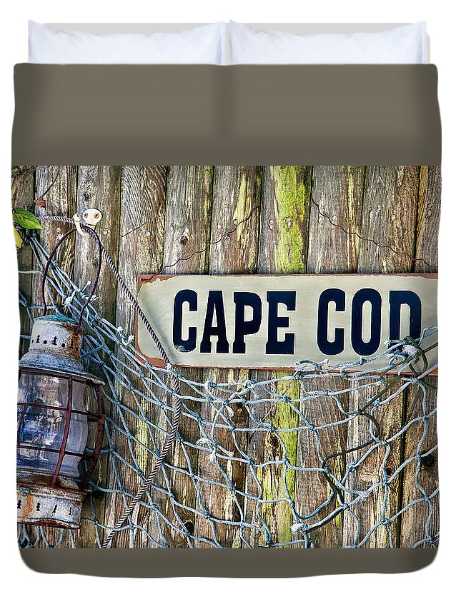 Bouy Duvet Cover featuring the photograph Rustic Cape Cod by Bill Wakeley