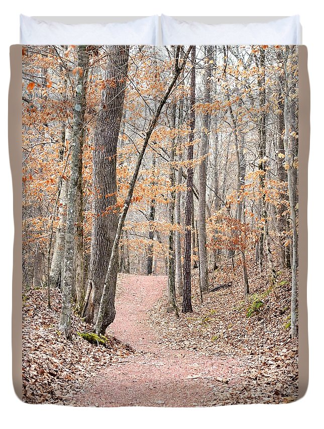Rustic Trails In Janauary 2013 Duvet Cover featuring the photograph Rustic Trails In January 2013 by Maria Urso