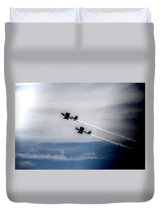 Rv-8 Duvet Cover featuring the photograph Rv8tors Flying High Sunderland Air Show 2014 by Scott Lyons