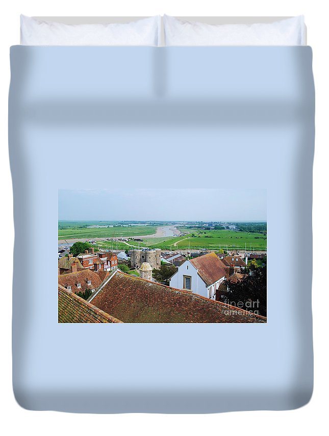 Rye Duvet Cover featuring the photograph Rye Roofs by David Fowler