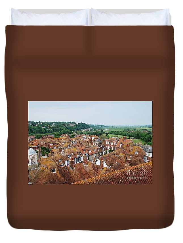 Rye Duvet Cover featuring the photograph Rye Town Roofs by David Fowler