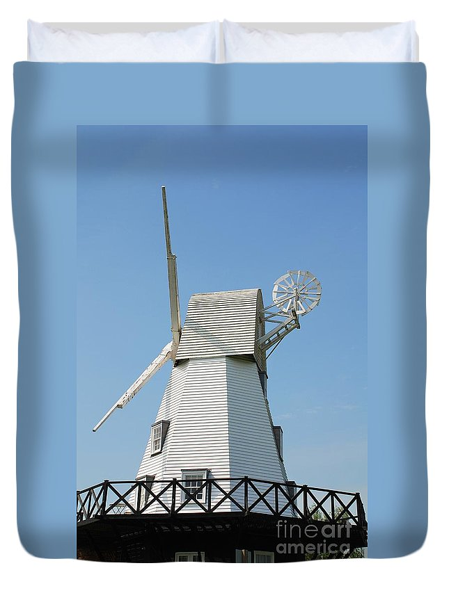 Windmill Duvet Cover featuring the photograph Rye Windmill by David Fowler