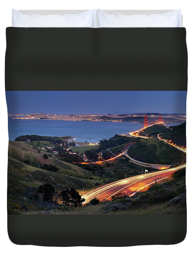 Scenics Duvet Cover featuring the photograph S Marks The Spot by Vicki Mar Photography