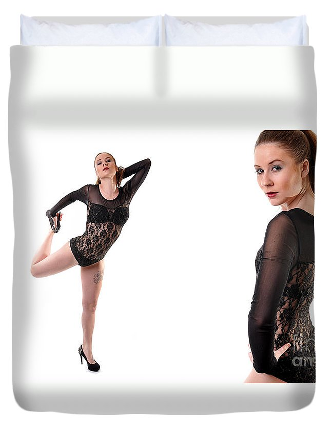 Yhun Suarez Duvet Cover featuring the photograph Sabrina10 by Yhun Suarez