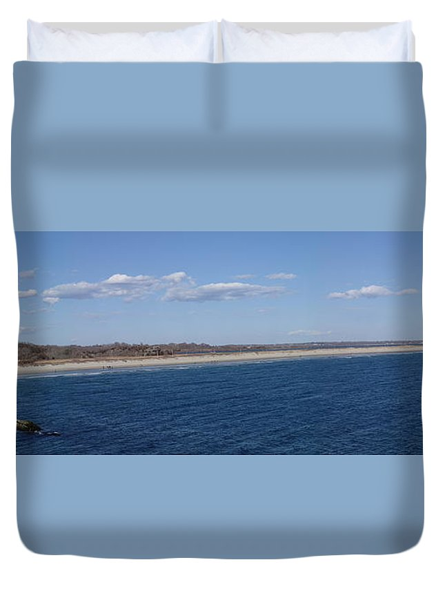 Sachusett Beach Duvet Cover featuring the photograph Sachusett Beach by Robert Nickologianis