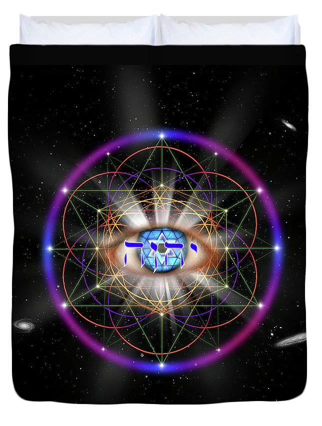 Endre Duvet Cover featuring the digital art Sacred Geometry 100 by Endre Balogh