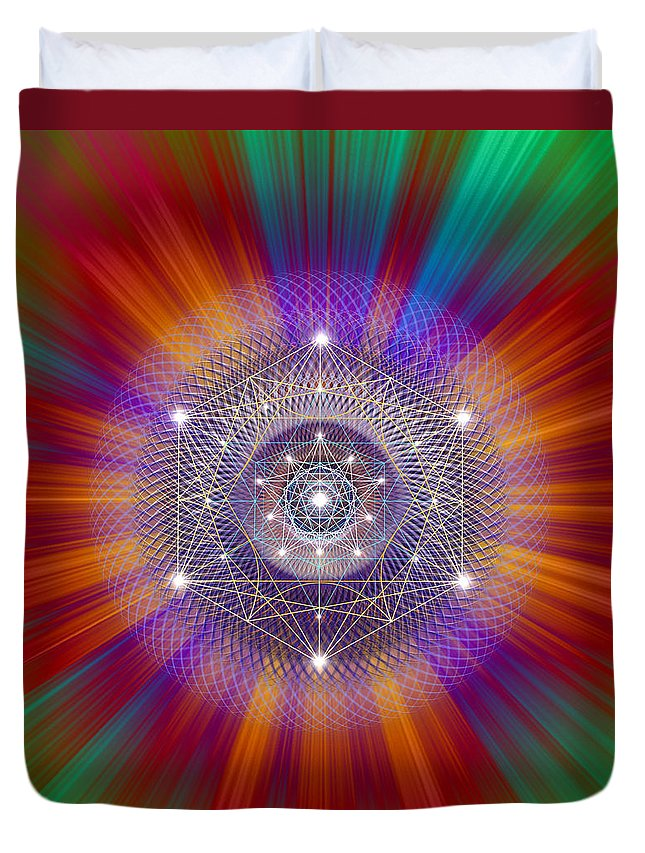 Endre Duvet Cover featuring the digital art Sacred Geometry 147 by Endre Balogh