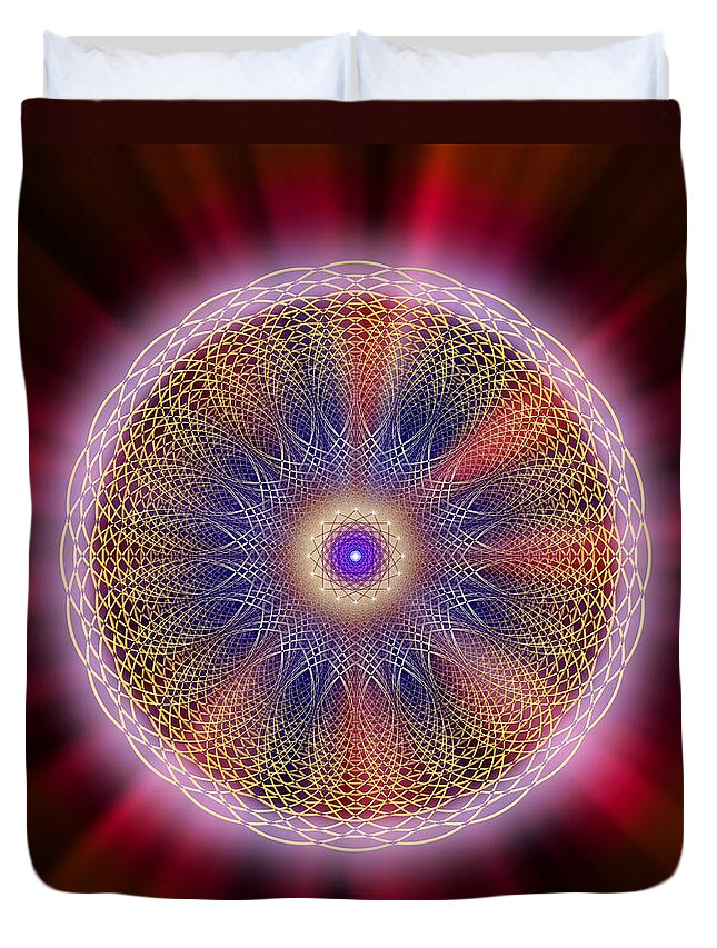 Endre Duvet Cover featuring the digital art Sacred Geometry 176 by Endre Balogh