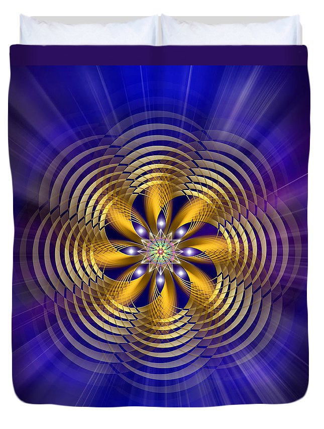 Endre Duvet Cover featuring the digital art Sacred Geometry 184 by Endre Balogh