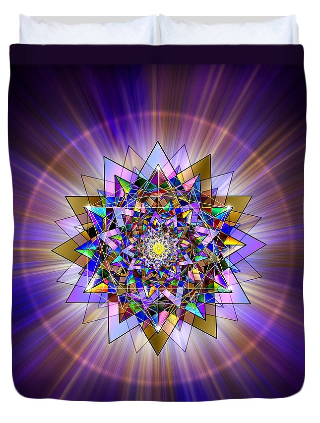 Endre Duvet Cover featuring the digital art Sacred Geometry 386 by Endre Balogh