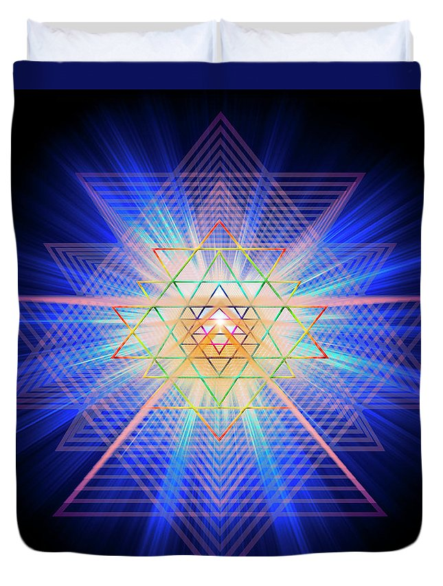 Endre Duvet Cover featuring the digital art Sacred Geometry 88 by Endre Balogh
