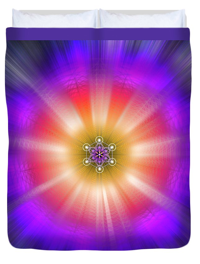 Endre Duvet Cover featuring the digital art Sacred Geometry 90 by Endre Balogh