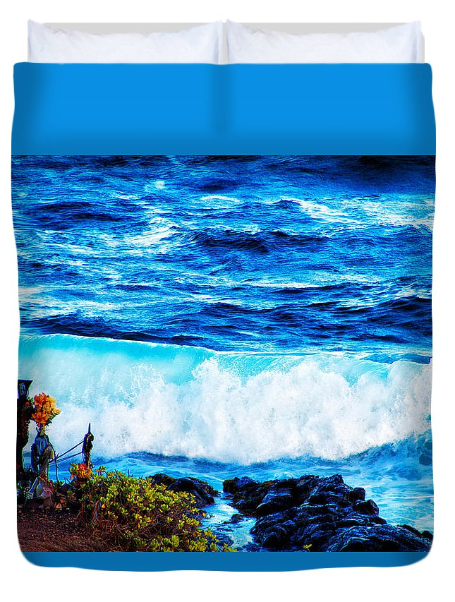 Shrine Duvet Cover featuring the photograph Sacred Place by Douglas Barnard