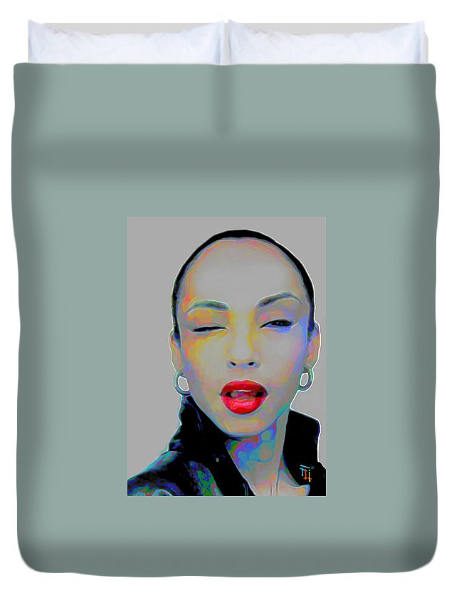 Sade Duvet Cover featuring the painting Sade 3 by Fli Art