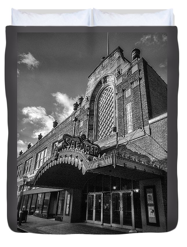 Alabama Duvet Cover featuring the digital art Saenger Theater by Michael Thomas