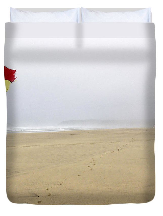 Safe Duvet Cover featuring the photograph Safe To Swim by Rachel Down