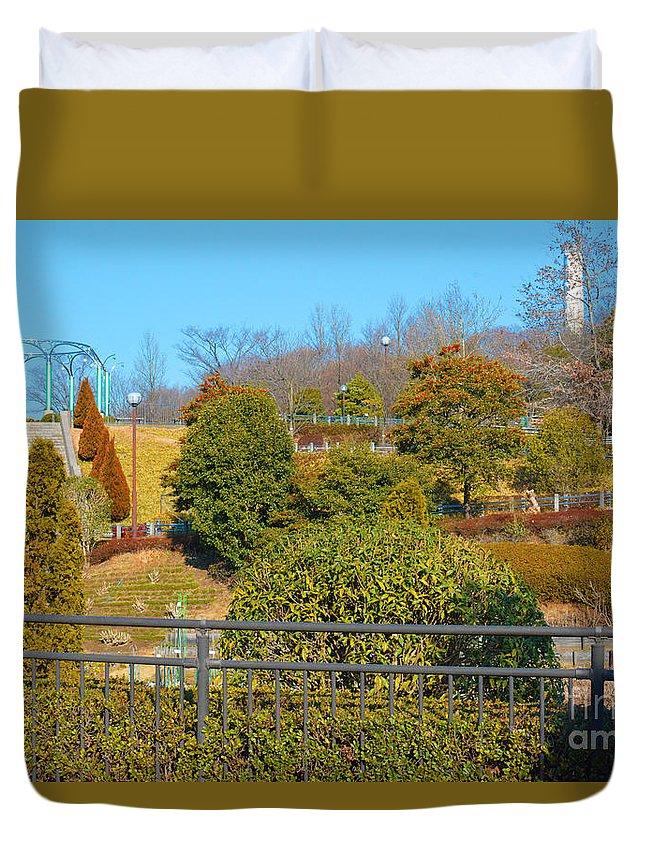 Park Duvet Cover featuring the photograph Sagamihara Asamizo Park 16h by Jay Mann