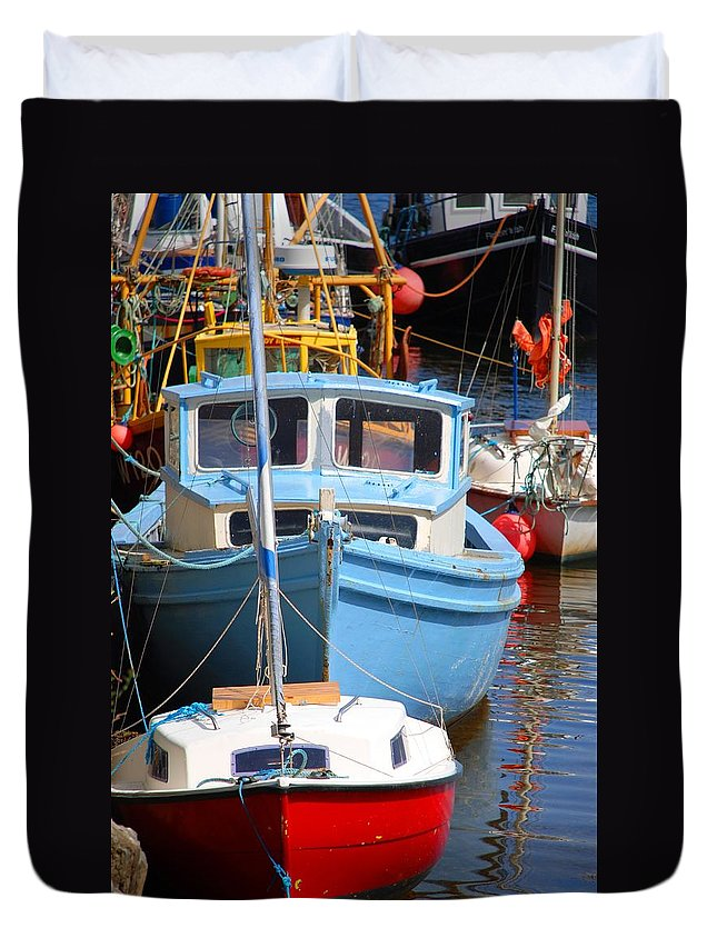 Sailing Duvet Cover featuring the photograph Sail Away by Charlie and Norma Brock
