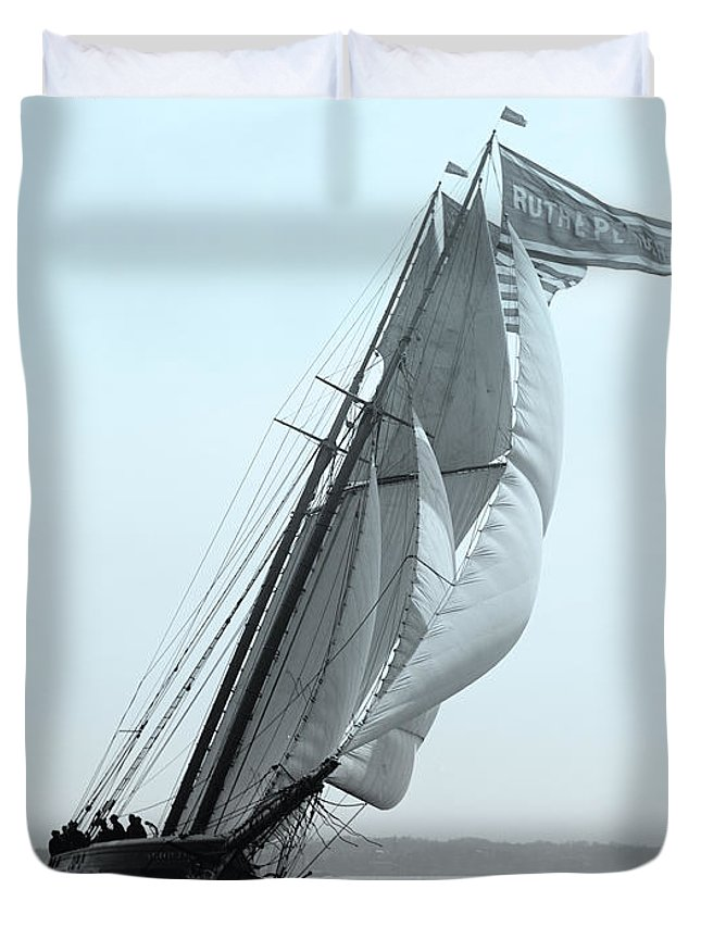 Photography Duvet Cover featuring the digital art Sail Racing by Gary Grayson