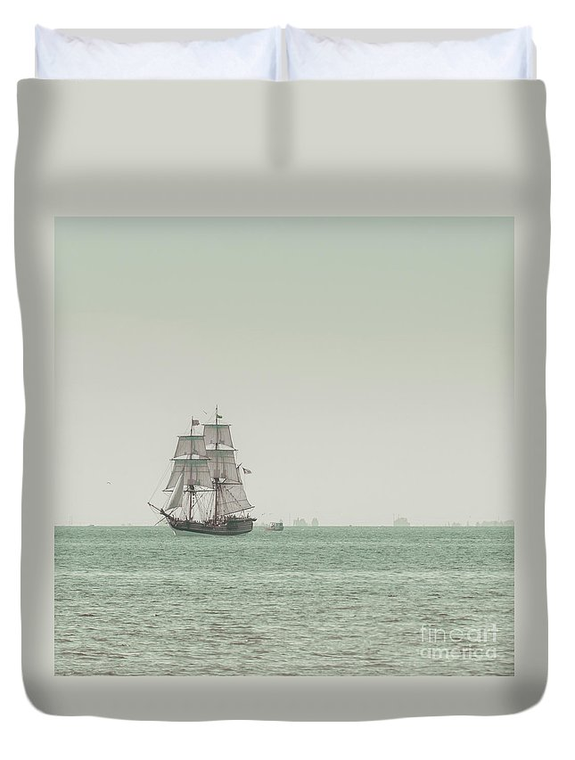 Art Duvet Cover featuring the photograph Sail Ship 1 by Lucid Mood
