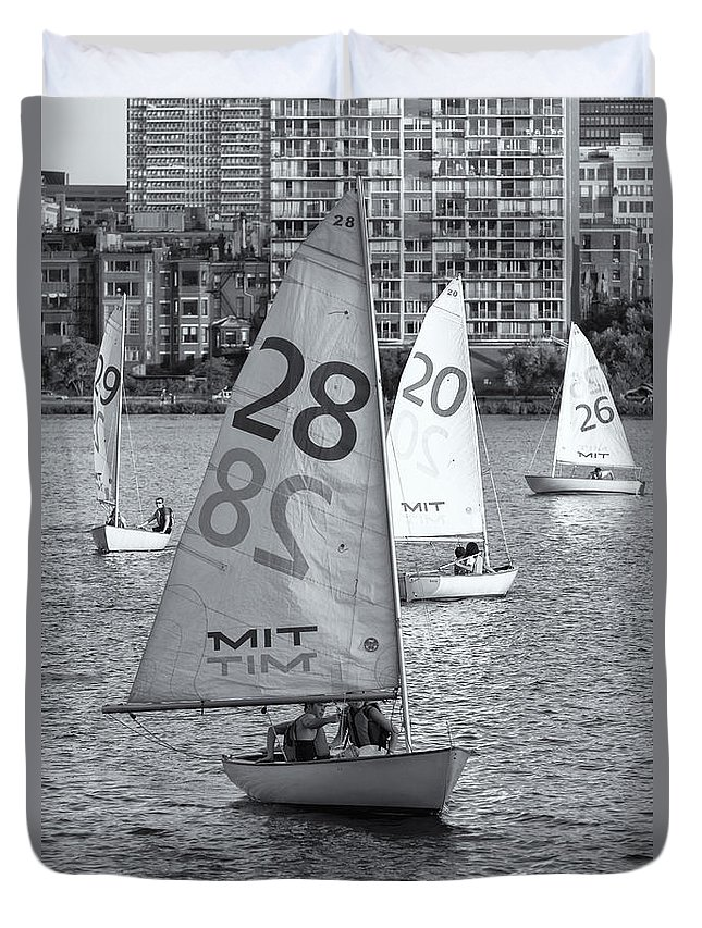 Clarence Holmes Duvet Cover featuring the photograph Sailboats On The Charles River II by Clarence Holmes