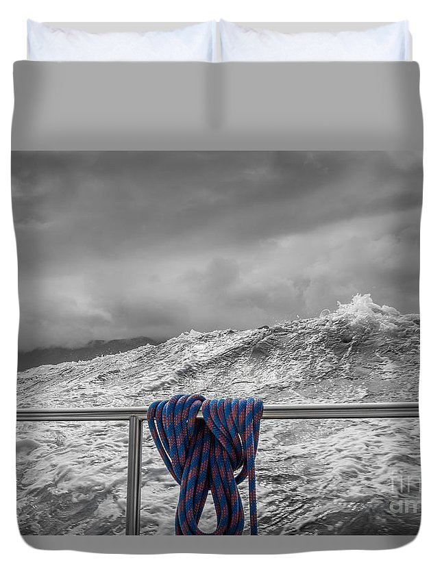 Ocean Duvet Cover featuring the photograph Sailing Around South West Cape Of Tasmania by Jola Martysz