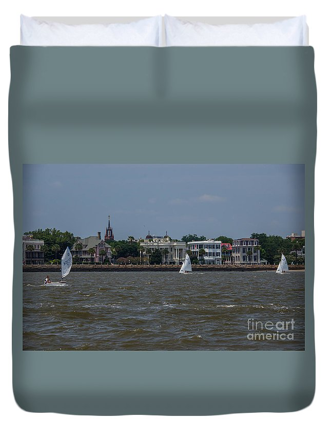 Sail Duvet Cover featuring the photograph Sailing Class by Dale Powell