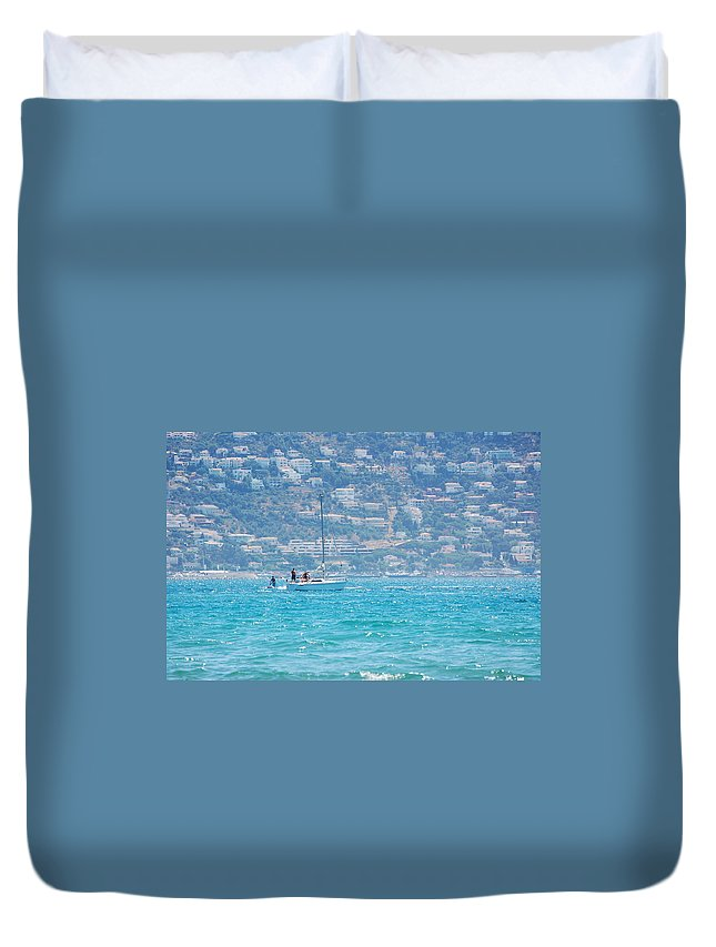 Sail Duvet Cover featuring the photograph Sailing by Gina Dsgn