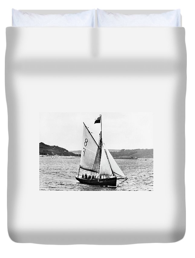 1890 Duvet Cover featuring the photograph Sailing Ship Cutter by Granger