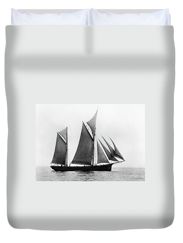 1876 Duvet Cover featuring the photograph Sailing Ship Ketch, 1876 by Granger