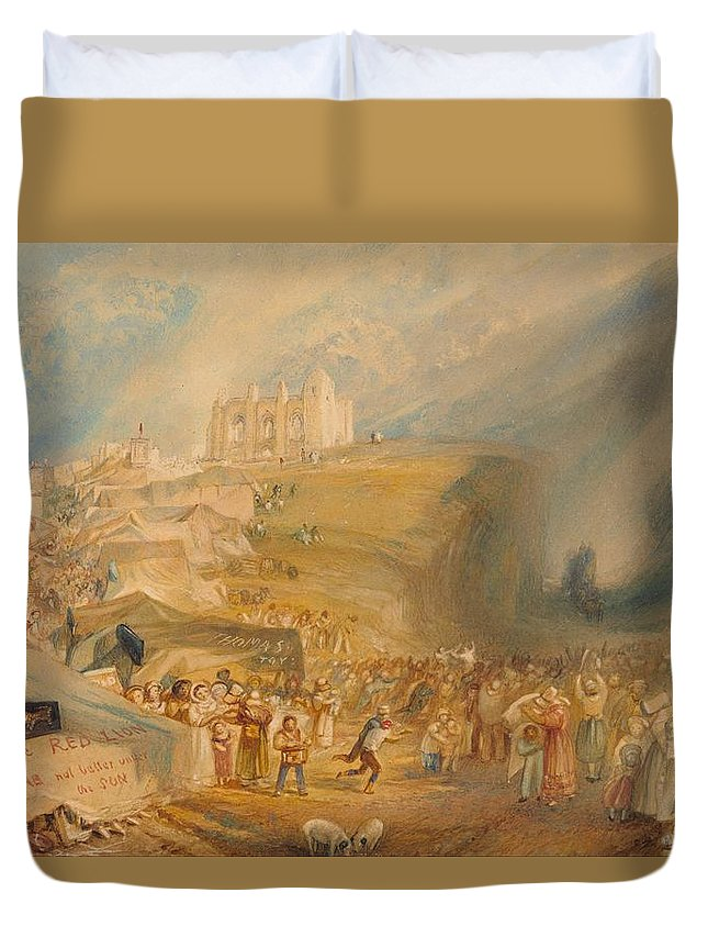 1830 Duvet Cover featuring the painting Saint Catherine's Hill by JMW Turner
